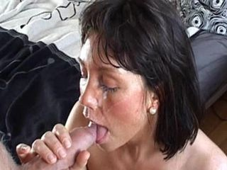 Cute tanned chick Lrke is getting cock in her mouth