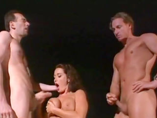 Orgy with a sexy brunette Dolly Golden