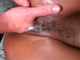 Sweet milf is deepthroating that long white dick