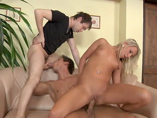 Stunning blonde Lexxis Brown and gays