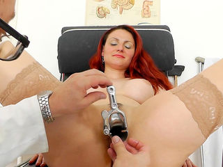 Redhead busty milf Beatrix and her doctor