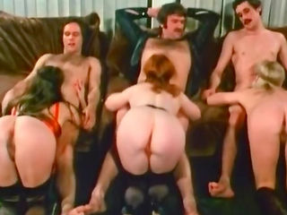 Sexy hardcore group sex with 6 persons