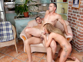 Bella Baby is fucking with two gays