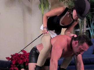 Stunning hardcore domination scene with slutty